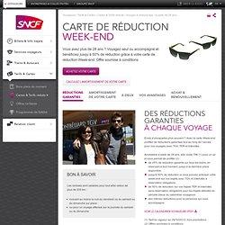 SNCF Escapades - Les avantages de la carte