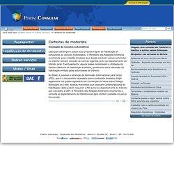 Carteiras de motorista — Itamaraty MRE - Portal Consular