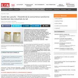 Cartel des yaourts : l'Autorité de la...