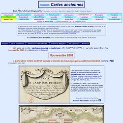 Cartes anciennes de l'Aquitaine et de la vallée du Dropt