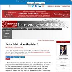 Cartes. Brésil: où sont les riches ? Par H. THERY