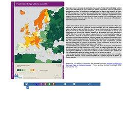 Les cartes de la cohésion territoriale - PIB par hab.