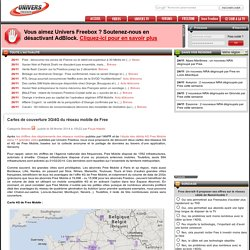 Cartes de couverture 3G/4G du réseau mobile de Free