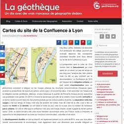 Cartes du site de la Confluence à Lyon