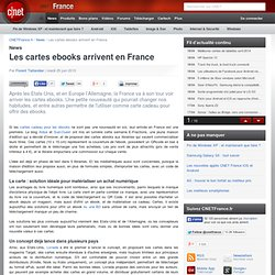 Les cartes ebooks arrivent en France