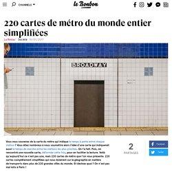 220 cartes de métro du monde entier simplifiées