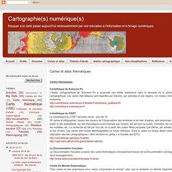 Cartes et atlas thématiques