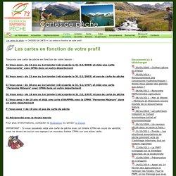 Les cartes en fonction de votre profil - FSPPMA - la pêche en Savoie