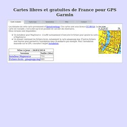 Cartes de France pour GPS Garmin