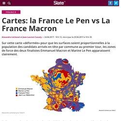 Cartes: la France Le Pen vs La France Macron