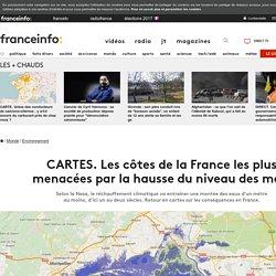 CARTES. Les côtes de la France les plus menacées parlahausse du niveau des mers
