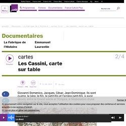 cartes (2/4) : Les Cassini, carte sur table