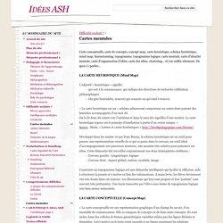 Cartes mentales - Idées ASH