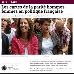 Les cartes de la parité hommes-femmes en politique française