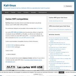 Cartes WIFI compatibles – Kali-linux