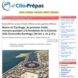 Rome et Carthage, du premier traité ... - Clio Prépas