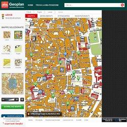 Mappe Lecce: Cartografia del comune, cartina e mappa stradale