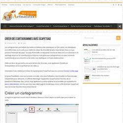 ScapeToad : Créer un cartogramme (Anamorphose)