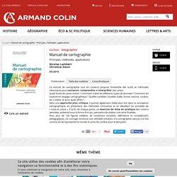 Manuel de cartographie - Principes, méthodes, applications