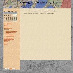 Cartographie 1914-1918 - Carte des positions au 22 aout 1914