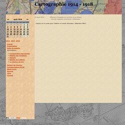 Cartographie 1914-1918 - Carte des positions au 14 aout 1914