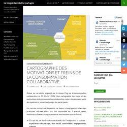 Cartographie des motivations et freins de la consommation collaborative