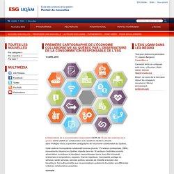 Première cartographie de l'économie collaborative au Québec par l'Observatoire de la consommation responsable de l'ESG