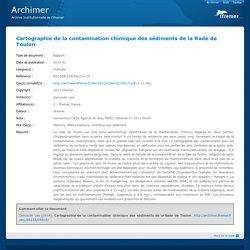 Cartographie de la contamination chimique des sédiments de la Rade de Toulon
