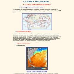 La cartographie des courants marins de surface