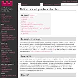 Ateliers de cartographie culturelle — Centre de Ressources Numériques - Labomedia