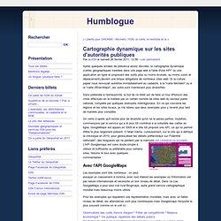 Cartographie dynamique sur les sites d'autorités publiques - Humblogue