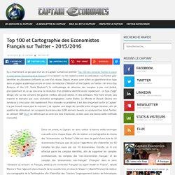 Top 100 et Cartographie des Economistes Français sur Twitter - 2015/2016