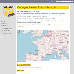 Cartographie des fablabs français