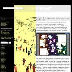 Tentative de cartographie des forums francophones les plus actifs