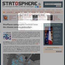 WeePlaces cartographie l'activité issue des réseaux sociaux géolocalisés