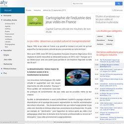 Cartographie de l'industrie des jeux vidéo en France