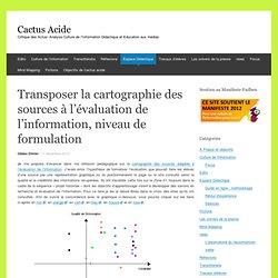 Transposer la cartographie des sources à l'évaluation de l'information, niveau de formulation