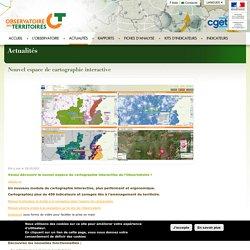 L'Observatoire des Territoires - Cartographie interactive