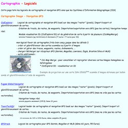 Cartographie - Logiciels