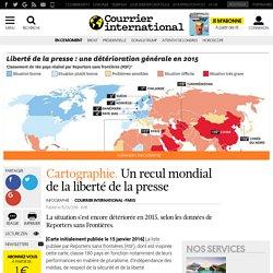 Cartographie. Un recul mondial de la liberté de la presse