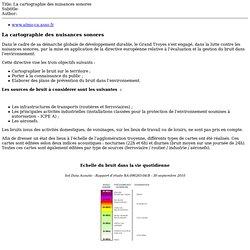 Site internet du Grand Troyes: La cartographie des nuisances sonores