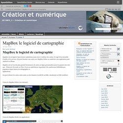 MapBox le logiciel de cartographie
