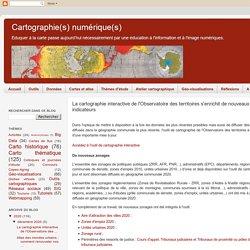 La cartographie interactive de l'Observatoire des territoires s'enrichit de nouveaux zonages et indicateurs