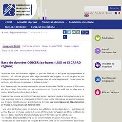 Base de données ODICER (ex-bases ILIAD et ESCAPAD régions) - Cartographie
