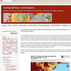 La cartographie des opportunités dans les quartiers des grandes métropoles : un outil au service de la justice spatiale ?