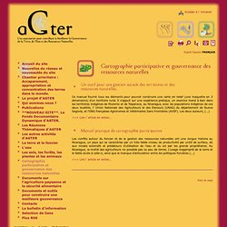 Cartographie participative et gouvernance des(...)