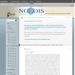 Questions sur la neutralité des outils de type jeux de rôle et cartographie participative dans une expérience de gouvernance foncière au Sénégal