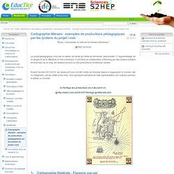Cartographie littéraire : exemples de productions pédagogiques par les lycéens du projet i-voix