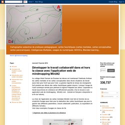 Cartographie subjective de pratiques pédagogiques : Développer le travail collaboratif dans et hors la classe avec l'application web de mindmapping Mind42