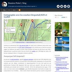 Cartographie avec les couches Géoportail/IGN et Leaflet (cartographie, ign, javascript, performances, sig, vtt)